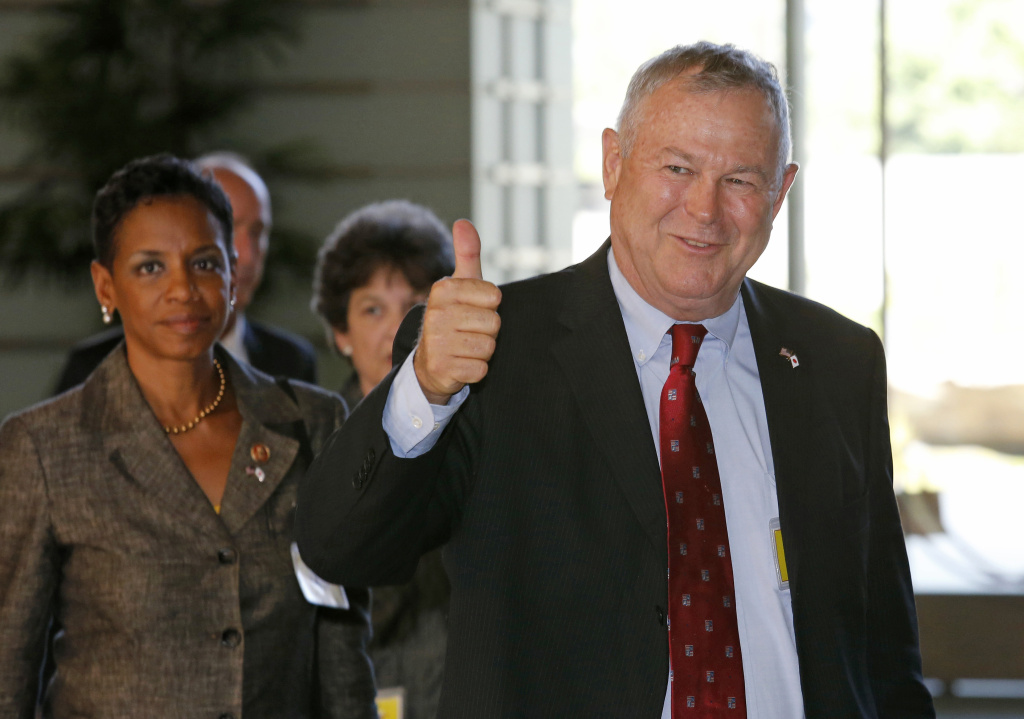 FILE PHOTO: U.S. Rep. Dana Rohrabacher (R-Calif.) is among state's Republican lawmakers who have dealt with protesters at field offices and town halls since Donald Trump's presidency began.