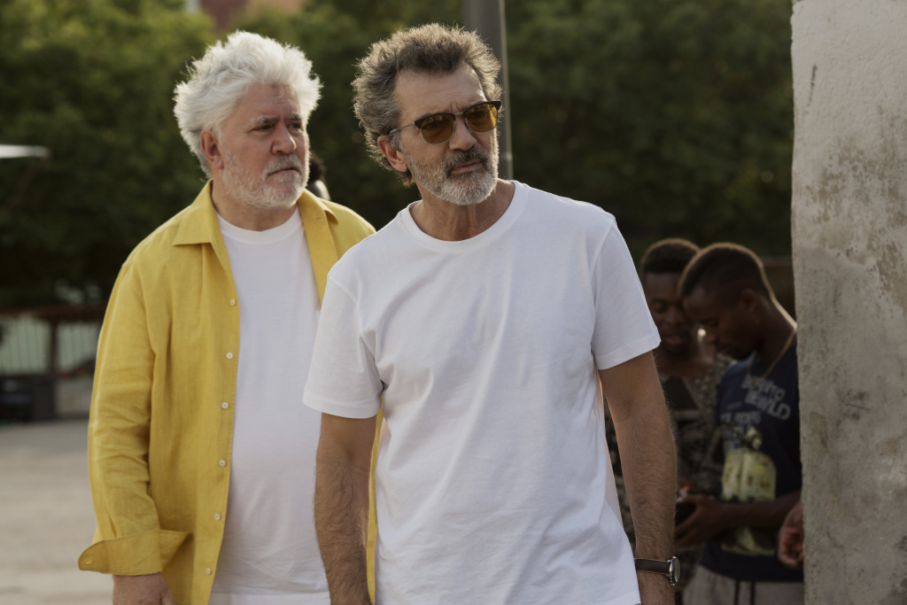 Pedro Almodóvar, left, has made the autobiographical movie,