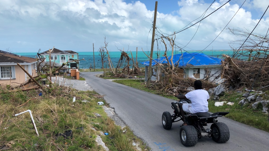 Hurricane Dorian hit Marsh Harbour on Abaco in the Bahamas particularly hard. This October 2019 photo shows how the storm's powerful winds and storm surge obliterated the island's largest city.
