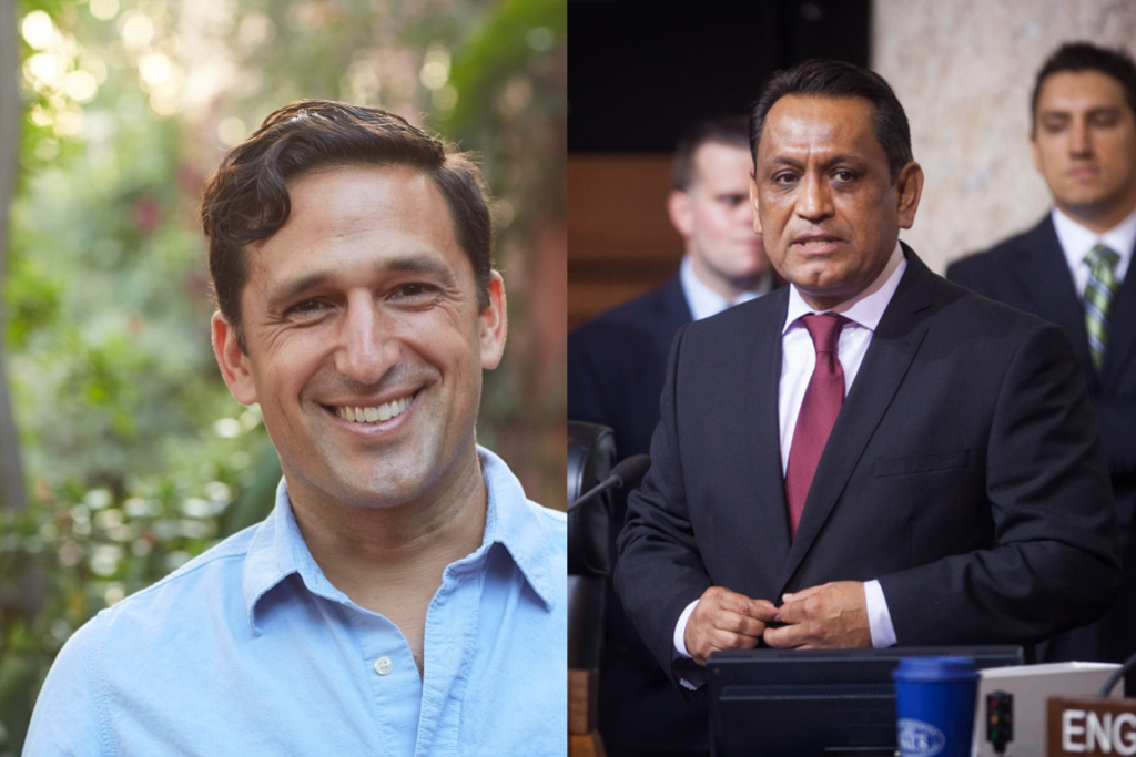 Los Angeles City Council District 1 candidates Joe Bray-Ali and Gil Cedillo.