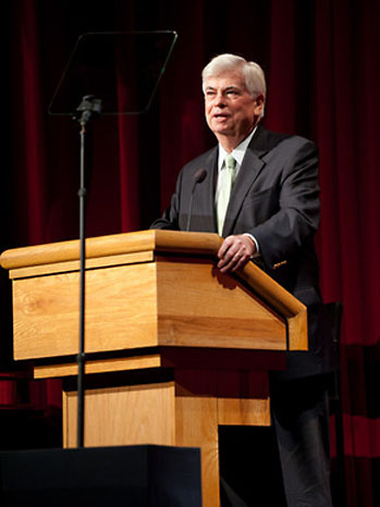 Now Motion Picture Association of America chief Christopher Dodd during the Gregory Peck commemorative stamp event, hosted by the Academy of Motion Picture Arts and Sciences presented on Thursday, April 28, 2011.