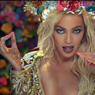 Beyoncé in the video for Coldplay's Hymn For The Weekend.