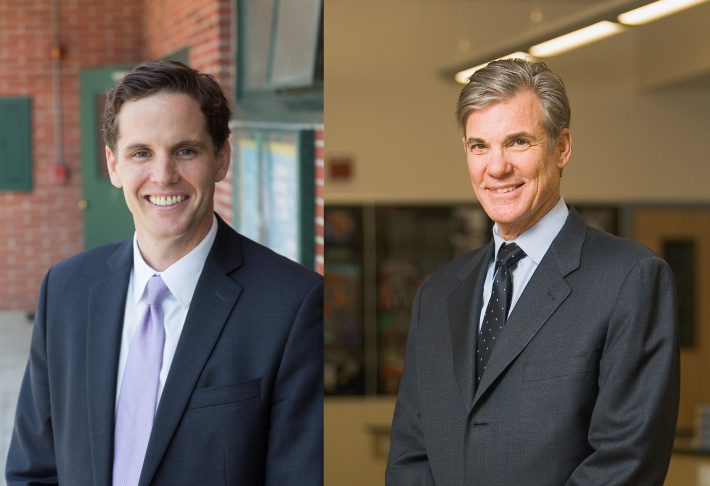 California state superintendent candidates Marshall Tuck and Tom Torlakson.
