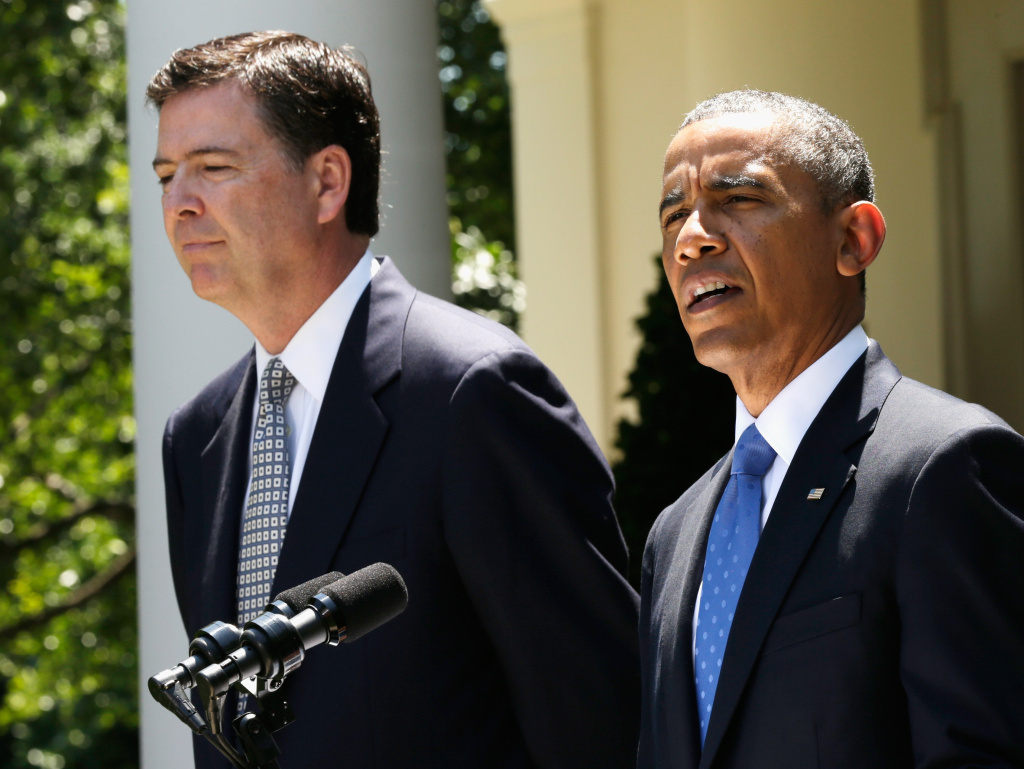 President Obama speaks Friday during a news conference to announce his nomination of James Comey to become FBI director.
