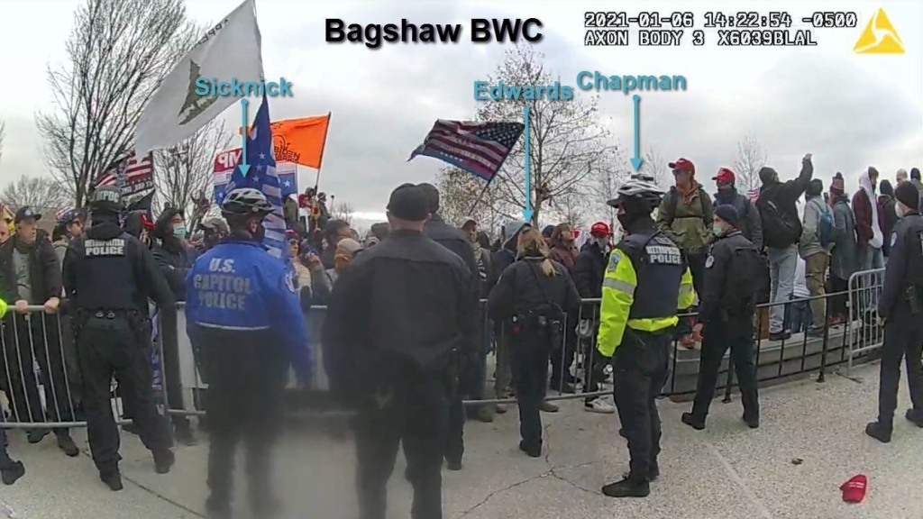 The Department of Justice released videos depicting the alleged assault on Capitol Police Officer Brian Sicknick and other members of law enforcement during the Jan. 6 attack on the U.S. Capitol.