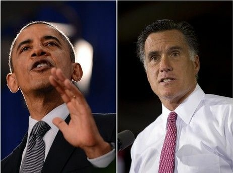President Obama and Mitt Romney in Ohio.