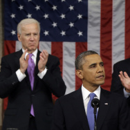 Vice President Biden and House Speaker John Boehner applaud President Obama