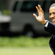 Obama Departs White House For New England Campaign Events
