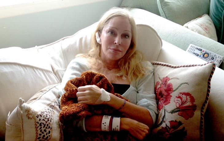 Santa Monica shooting victim Debra Fine returned from UCLA Medical Center on Saturday, June 8, 2013.