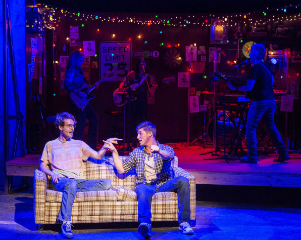 "Ryder Bach, left, and Curt Hansen in ""Girlfriend,"" with book by Todd Almond and music and lyrics by Matthew Sweet. ""Girlfriend"" is playing at the Kirk Douglas Theatre through Aug. 9."