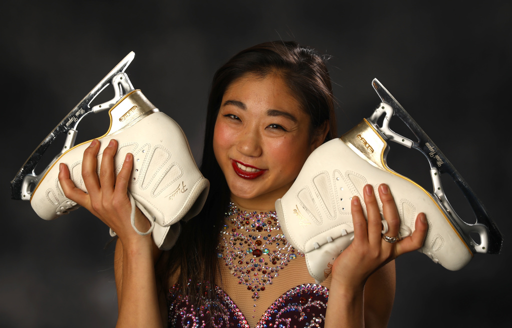 Figure Skater Mirai Nagasu poses for a portrait during the Team USA Media Summit ahead of the PyeongChang 2018 Olympic Winter Games