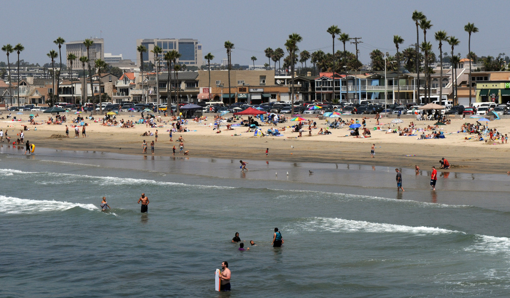 This file photo shows Balboa beach, one of the most popular beaches of Newport Beach, on August 17, 2009. The lack of affordable accommodations is a major barrier to visiting the coast for many Californians.