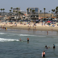 View of Balboa beach one of the popular