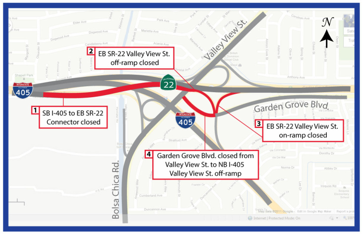 60 freeway commuters will see a 55-hour closure this weekend on the westbound between Nogales Street and Fullerton Road.