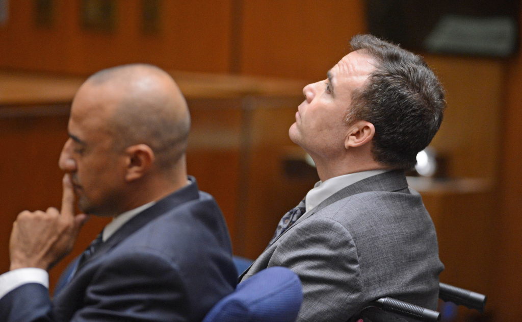 Defendant David Viens, right, listens as a second degree murder verdict was read in Los Angeles Thurwday Sept. 27, 2012. His attorney Fred McCurry is at left. Viens, a chef, told police he boiled his wife's body for four days to hide evidence of her death.