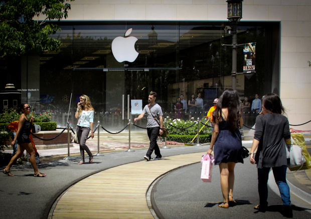 The new Apple store at the Americana in Glendale.