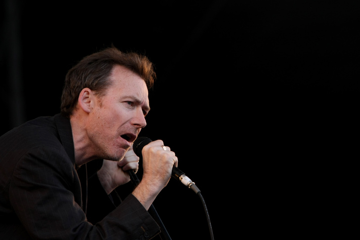 Jim Reid of The Jesus Mary and Chain performs on stage during the V Festival at the Melbourne Showgrounds.