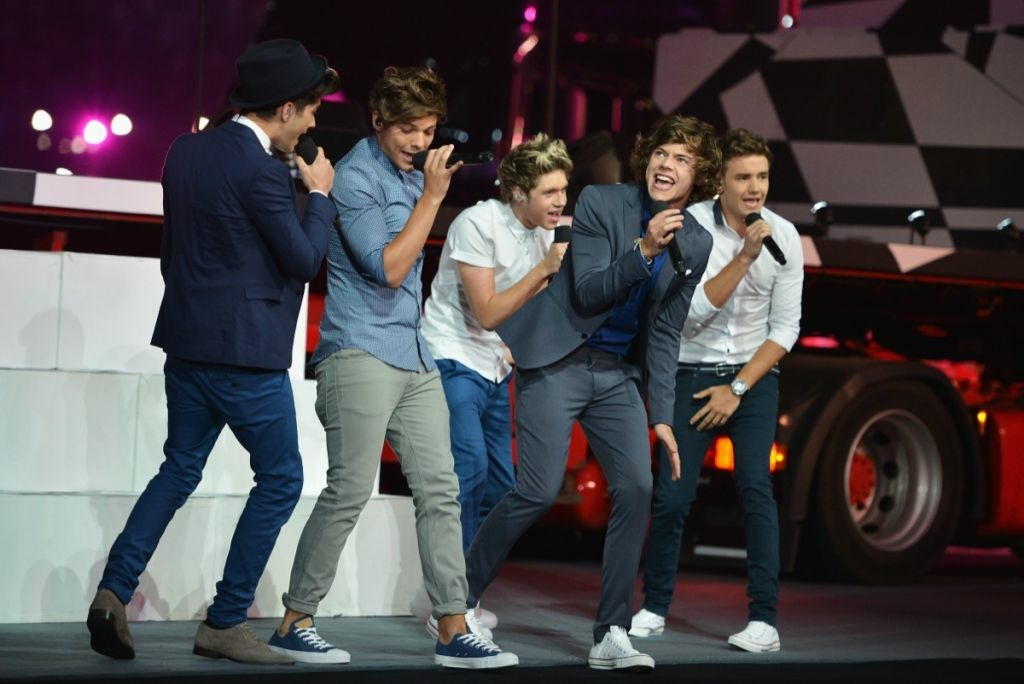 Zayn Malik, Louis Tomlinson, Niall Horan, Harry Styles and Liam Payne of One Direction performs during the Closing Ceremony on Day 16 of the London 2012 Olympic Games at Olympic Stadium on Aug. 12, 2012 in London, England.