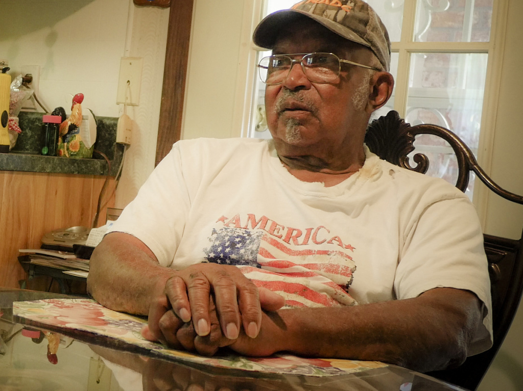 Odell Ducksworth, Heidelberg, Miss., June 20, 2016. He held his dying uncle, Roman Ducksworth, moments after the shooting. He still helped keep the incident a secret from Roman Ducksworth's children.