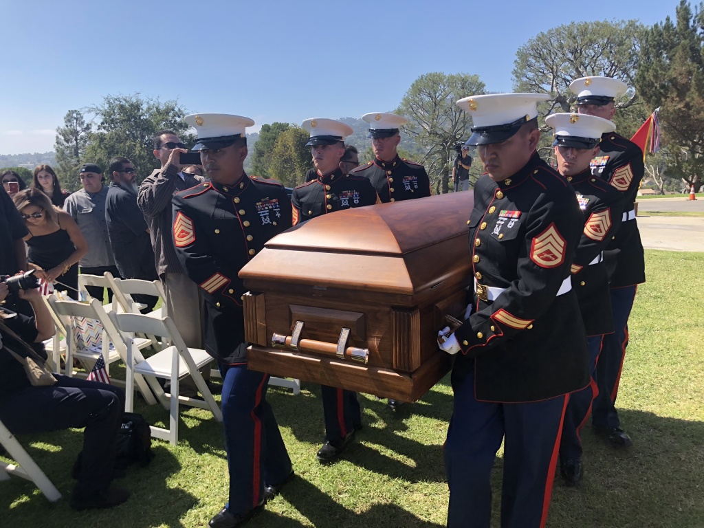 Private First Class Roger Gonzales is laid to rest with full military honors after he was killed in action in 1950 in Korea.