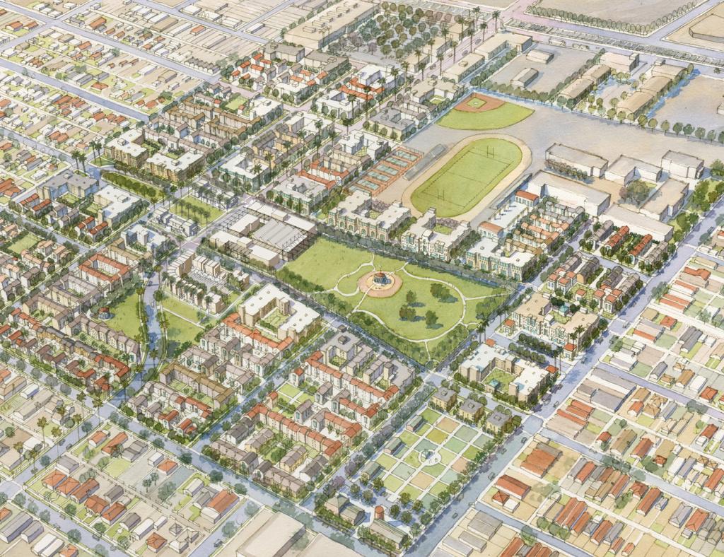 File: A rendering of the billion-dollar Jordan Downs redevelopment project.