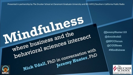 Drucker - Mindfulness - where business and the behavioral sciences intersect
