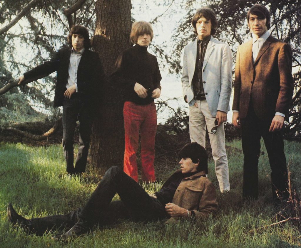 A mono photograph of The Rolling Stones