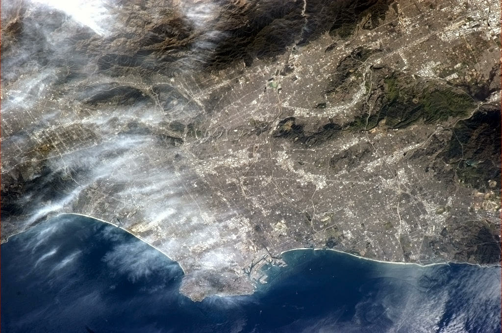 Los Angeles as seen from the International Space Station, tweeted Thursday, Jan. 24.