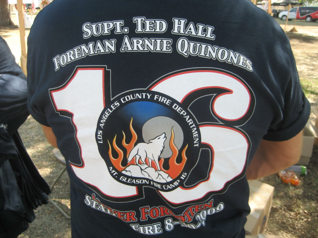 T-shirt in memory of Firefighters Ted Hall and Arnie Quinones