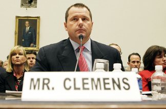 Former MLB pitcher Roger Clemens testifying before Congress in 2008.