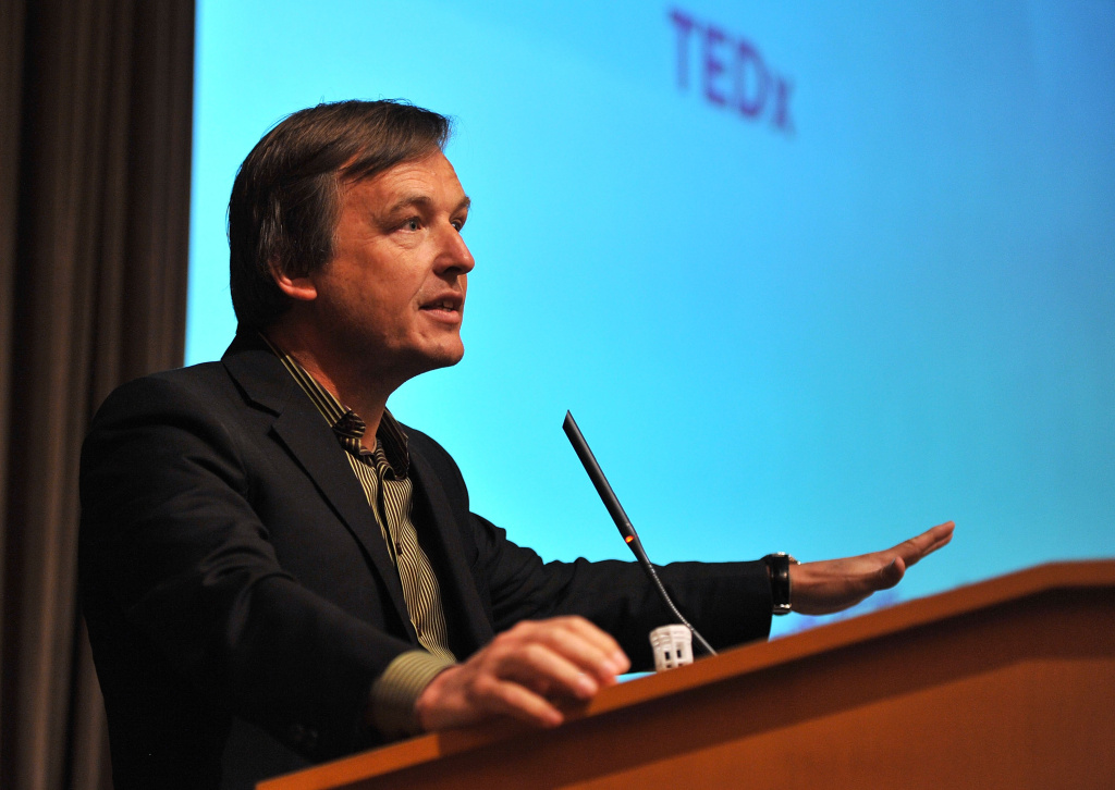Chris Anderson of (TED) speaks at the Disruptive Innovation Awards at The 2011 Tribeca Film Festival at Citibank Building On Greenwich in New York City.