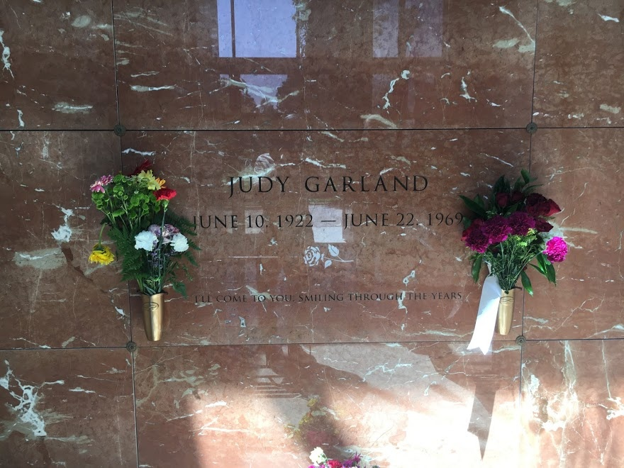 Actress Judy Garland's grave at Hollywood Forever Cemetery