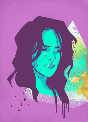 Kristen Stewart art from Muchos KStew
