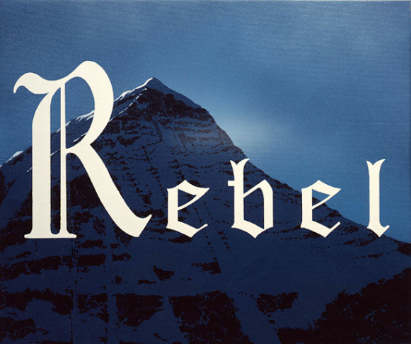 Ed Ruscha, Rebel, 2011, acrylic on canvas, courtesy of the artist