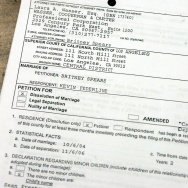 Britney Spears Divorce Papers