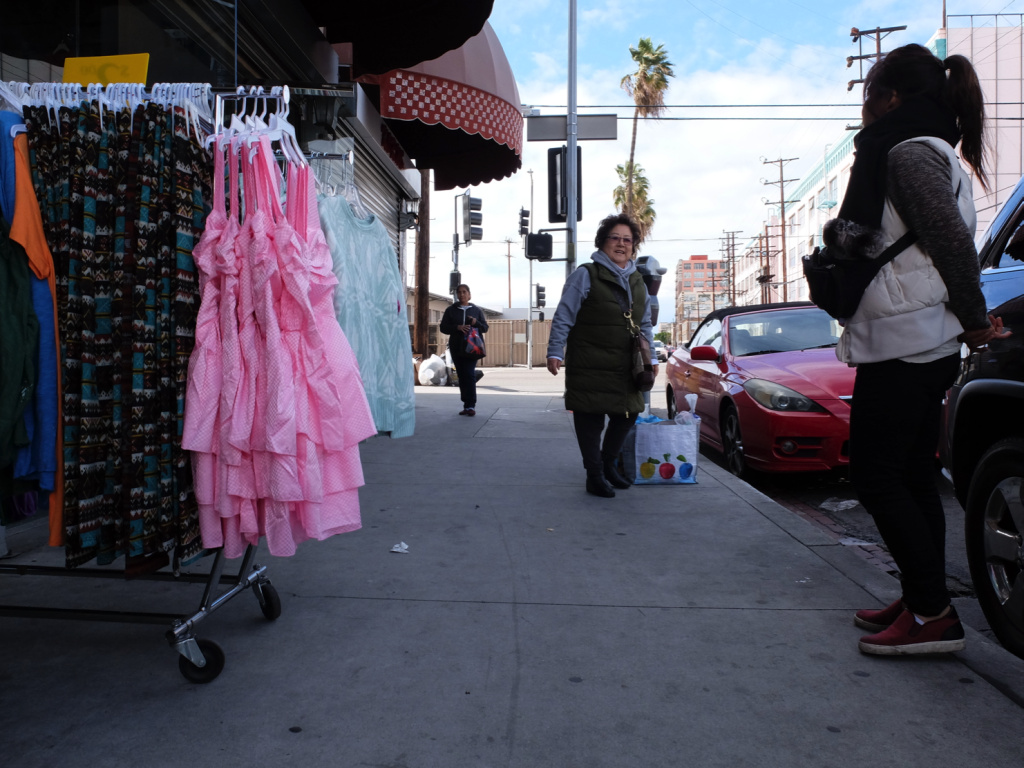 Korean-American shop owners wait for customers along East Pico Boulevard on a recent quiet Saturday afternoon.