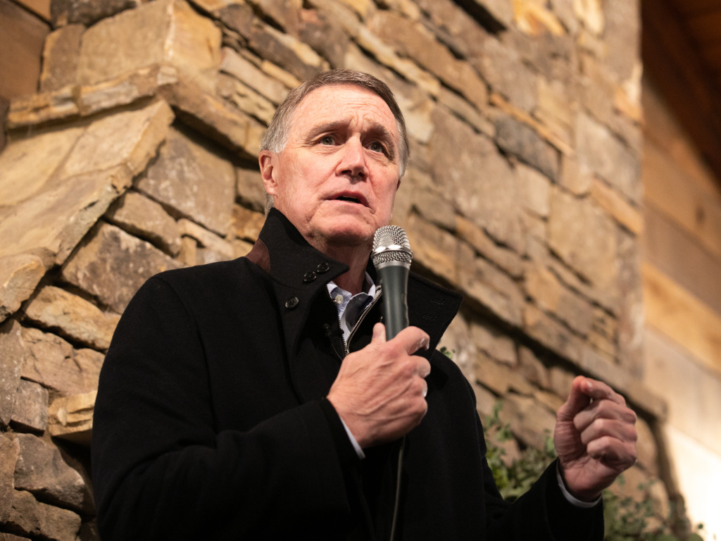 Former GOP Sen. David Perdue from Georgia, seen here during a campaign rally in December, has filed paperwork with the FEC to potentially run for Senate again.
