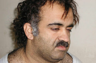 Khalid Sheikh Mohammed, the alleged Sept. 11 mastermind, is seen shortly after his capture during a raid in Pakistan Saturday March 1, 2003.