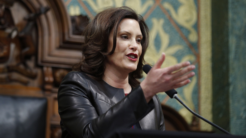 Michigan Gov. Gretchen Whitmer delivers her State of the State address last month.