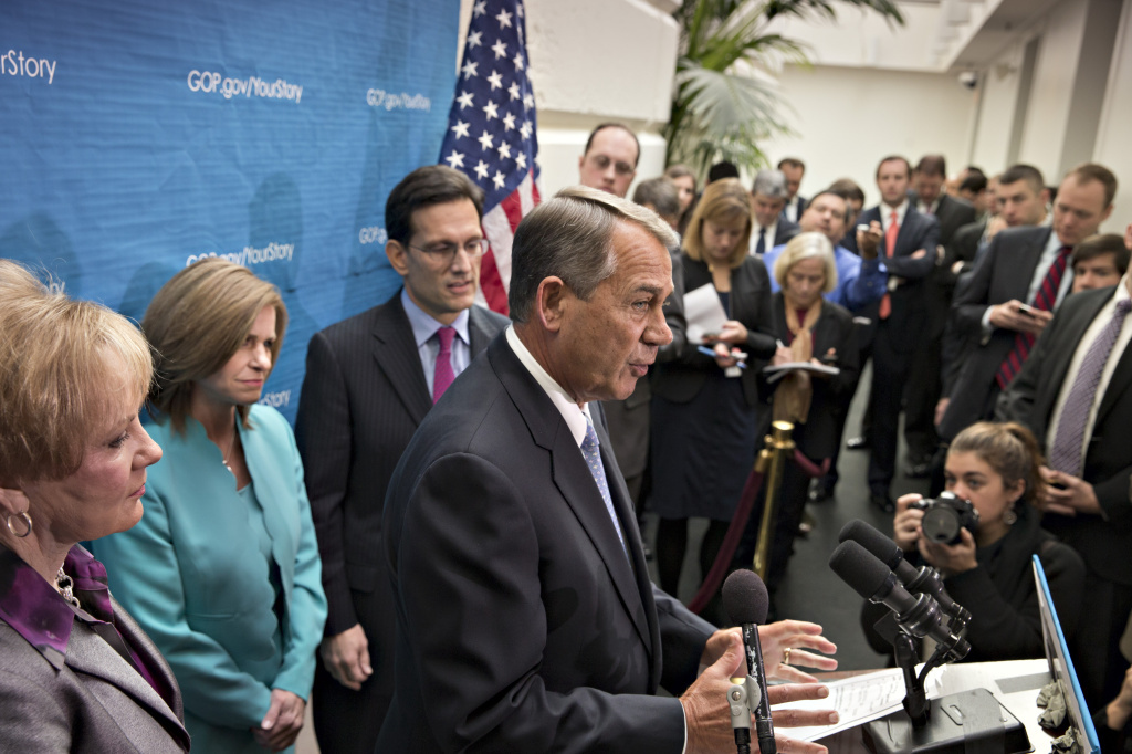 Speaker John Boehner told reporters Tuesday that if a productivity problem existed in Congress, it was in the Senate, not his House.