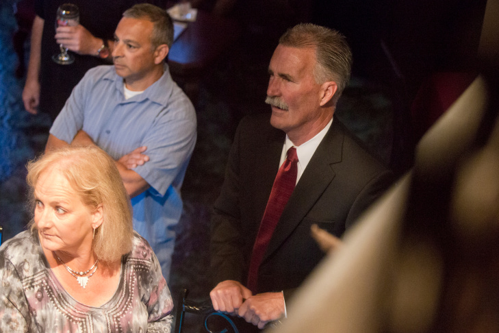 Los Angeles County Sheriff candidate Jim McDonnell easily won the primary on Tuesday night.