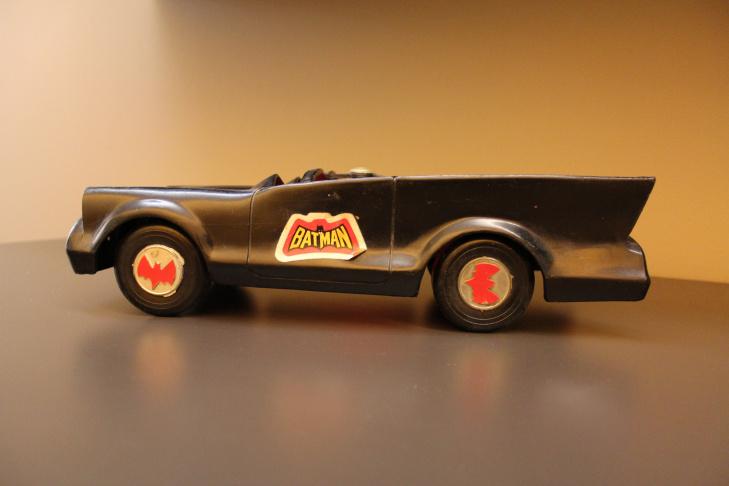 Chris Nichols's Batmobile toy.