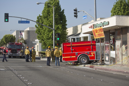 Monterey Park Fire Truck Crash