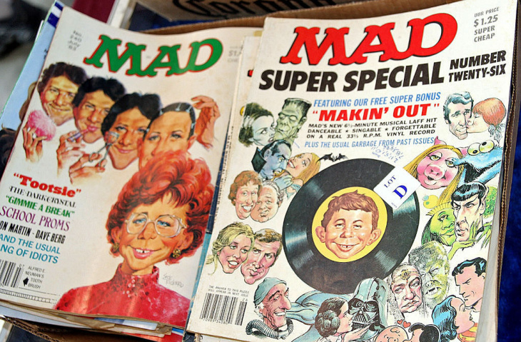 Classic issues of Mad Magazine.