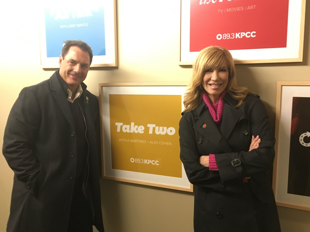 New hosts of the Rose Parade Mark Steines and Leeza Gibbons.