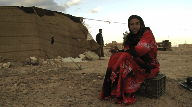 Rafea in the village. From the film
