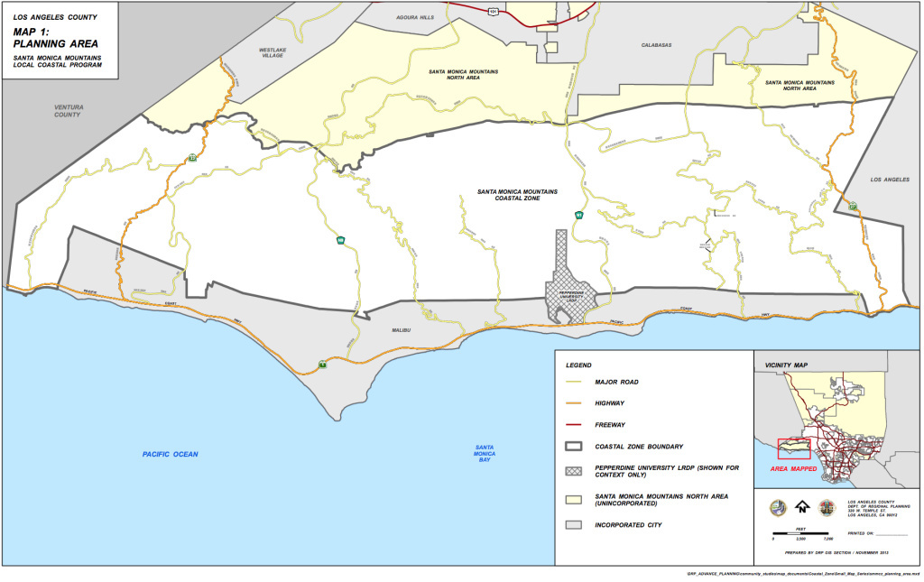 The project sets guidelines for development in more than 50,000 acres of land in the Santa Monica Mountains.