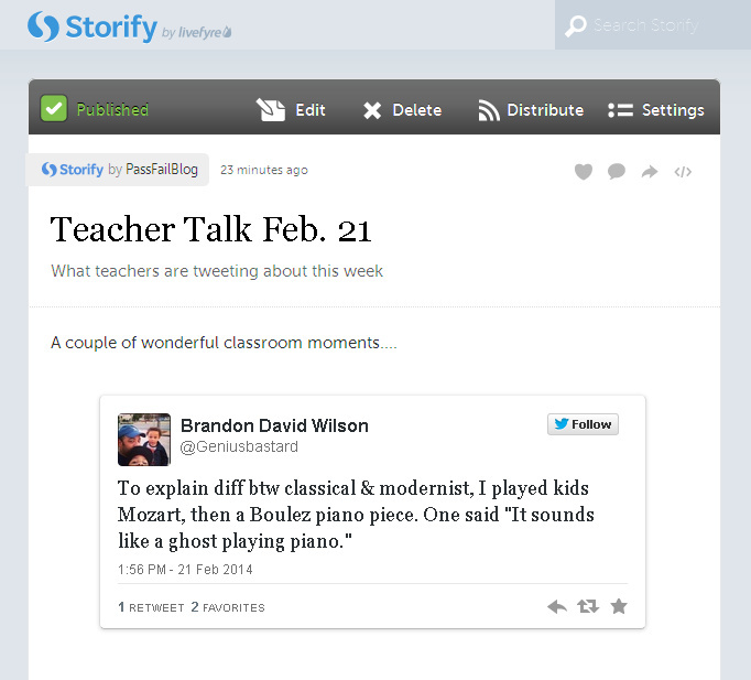 Storify Screen Grab PassFailBlog