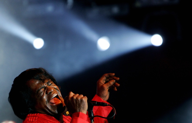 US soul legend James Brown performs