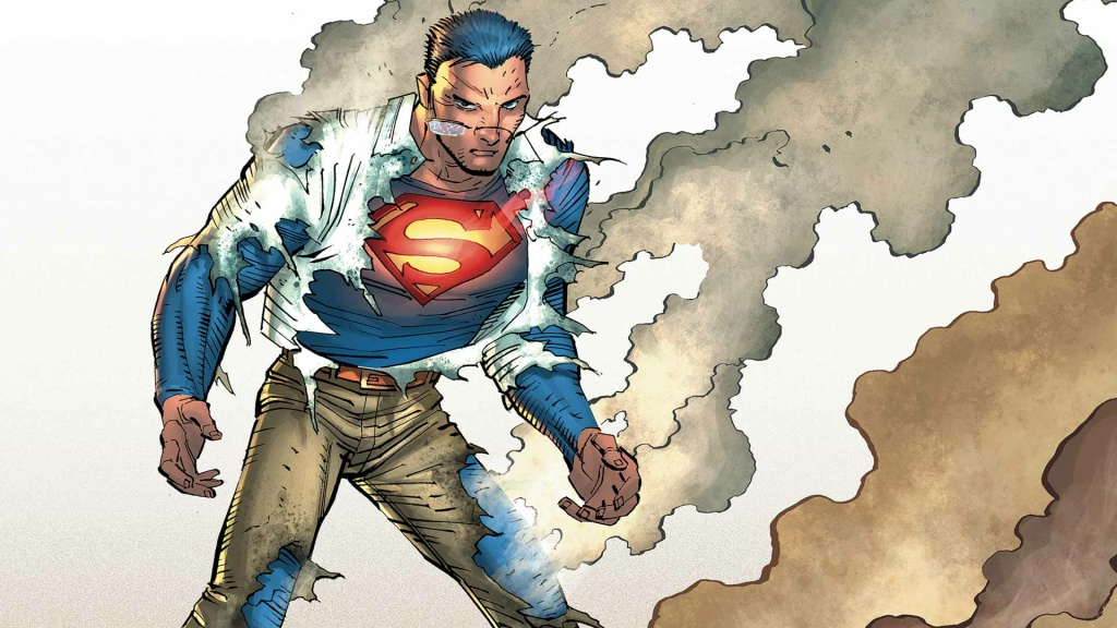 An image from Gene Luen Yang's take on the traditional Superman, from his run on the